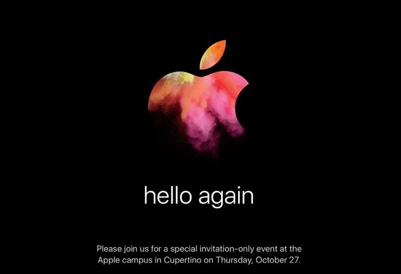 Hello Again MacBook event October 27