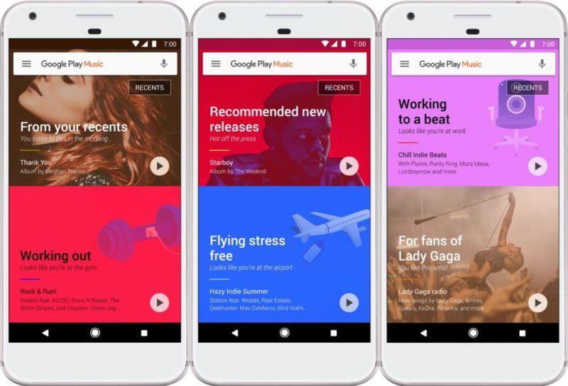 Google Play Music app for iOS