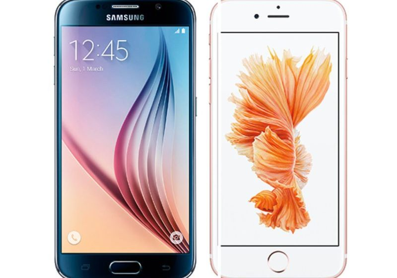 iPhone 6s Samsung Galaxy S6