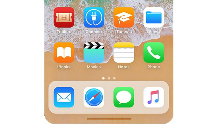 touch bar iphone 8 gestures home button 2017 iOS 11