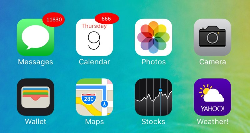 app notification badges on iOS