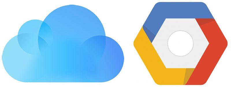 iCloud Google Cloud Platform logo