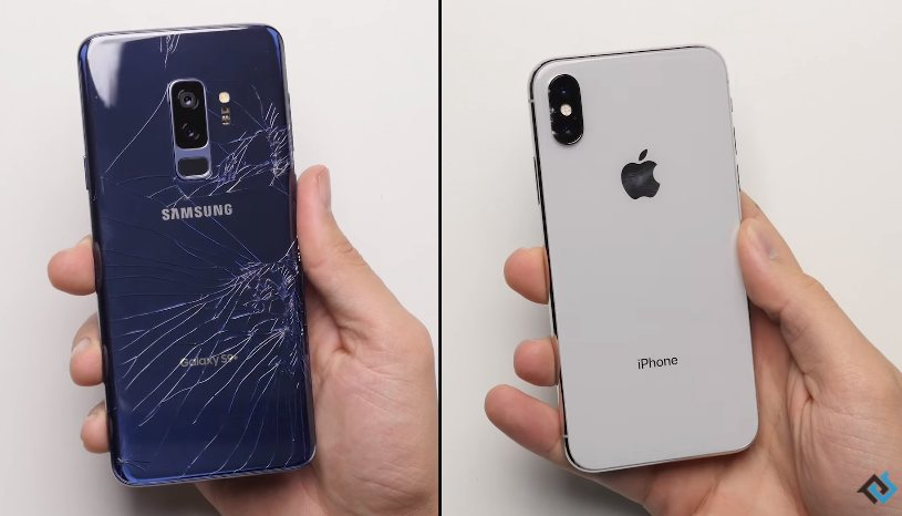 Breakability tests show how durable are the iPhone X and Galaxy S9.