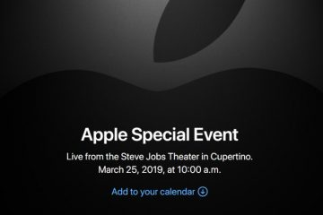 event march 25 Apple 2019