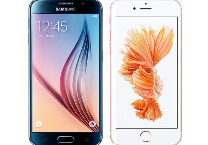 iPhone 6s Samsung Galaxy S6