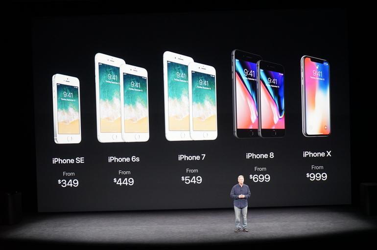 Apple iPhone line up 2017