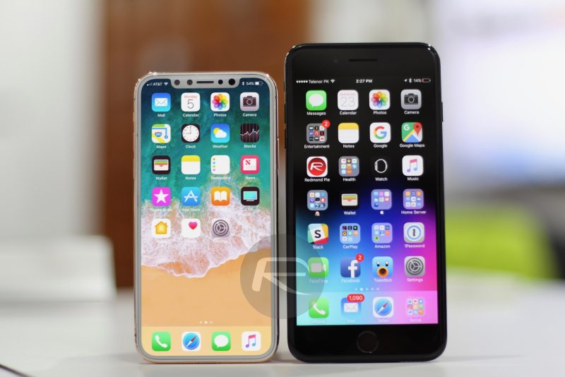 Screen size comparison – iPhone X/Edition vs iPhone 7 Plus