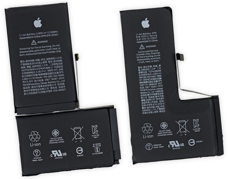 Phone XS / XS Max  battery teardowns